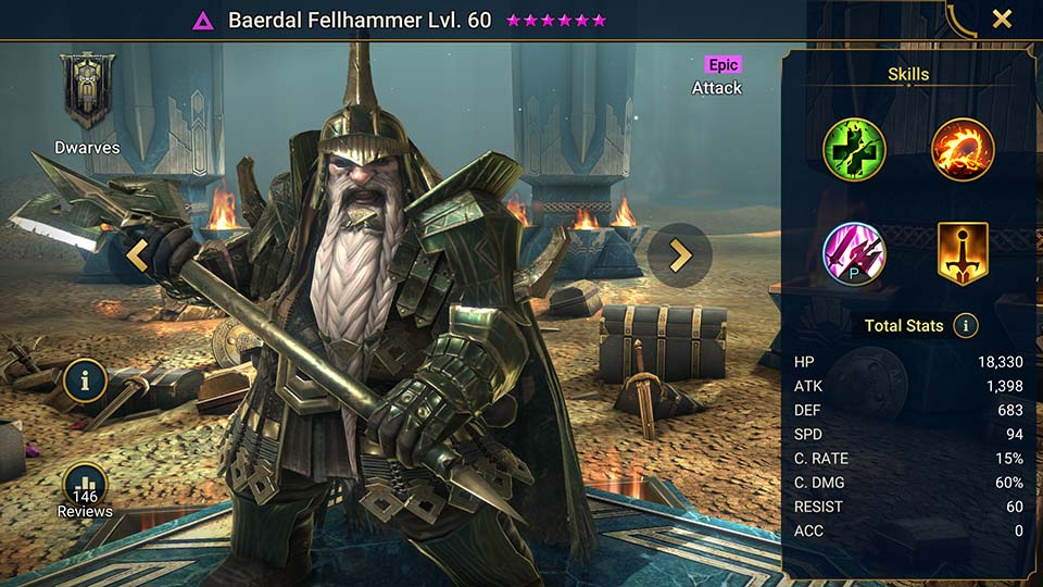 Raid Shadow Legends Baerdal Fellhammer