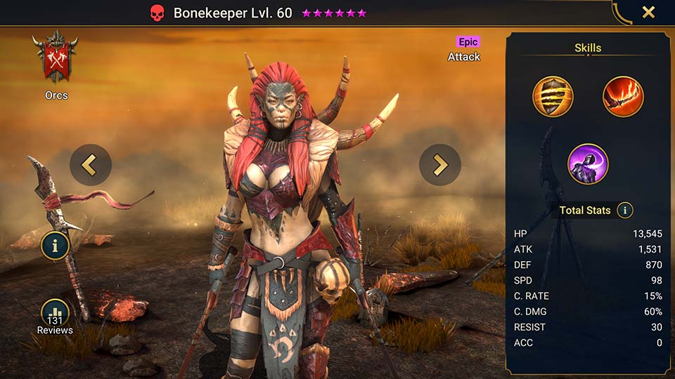 Raid Shadow Legends Bonekeeper