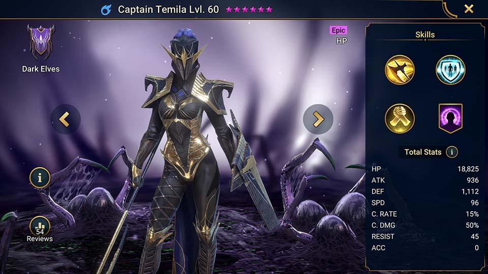 Raid Shadow Legends Captain Temila