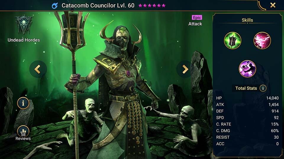 Raid Shadow Legends Catacomb Councilor