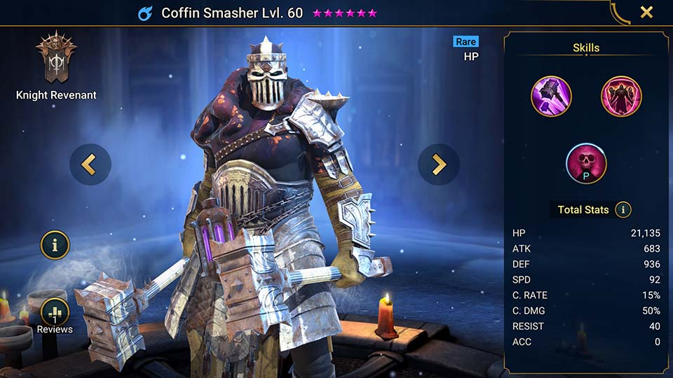 Raid Shadow Legends Coffin Smasher