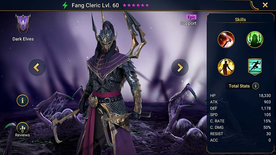 Raid Shadow Legends Fang Cleric