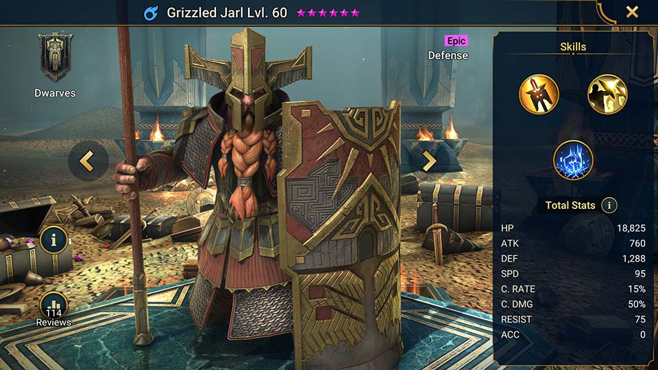 Raid Shadow Legends Grizzled Jarl