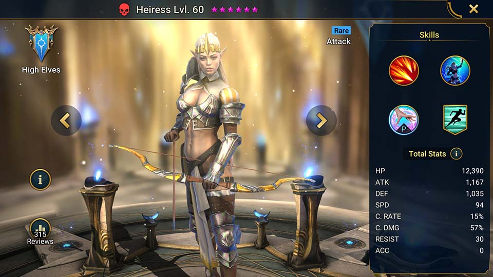 Raid Shadow Legends Heiress