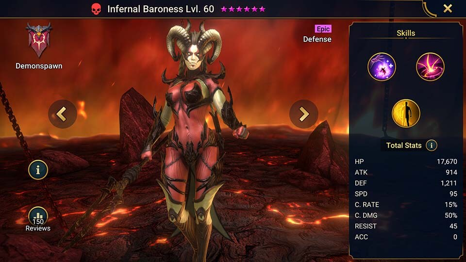 Raid Shadow Legends Infernal Baroness