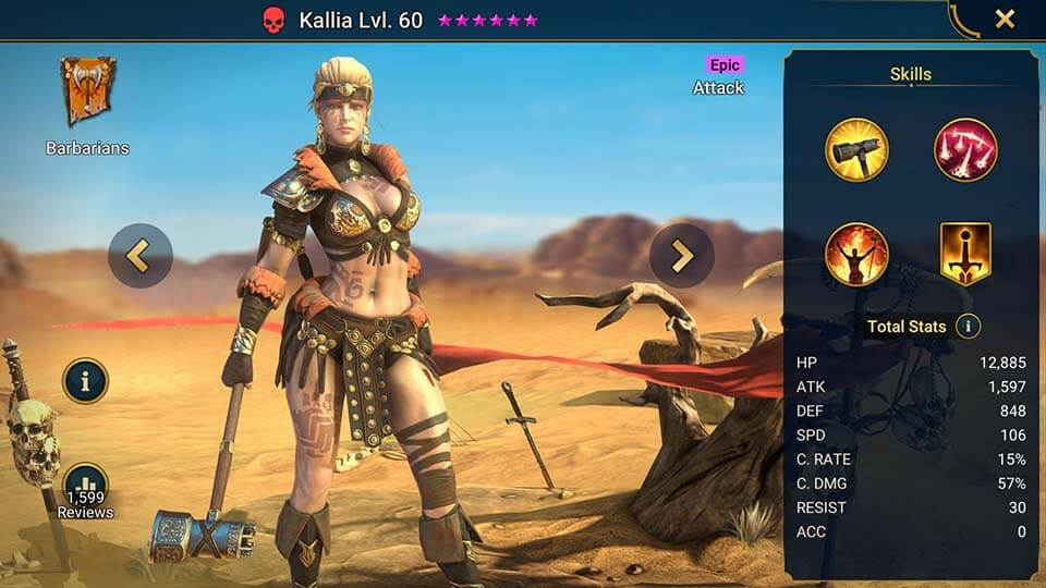Raid Shadow Legends Kallia