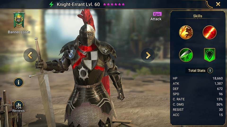 Raid Shadow Legends Knight-Errant