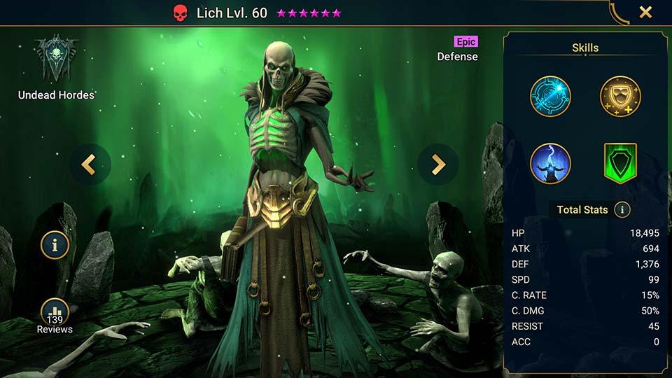 Raid Shadow Legends Lich