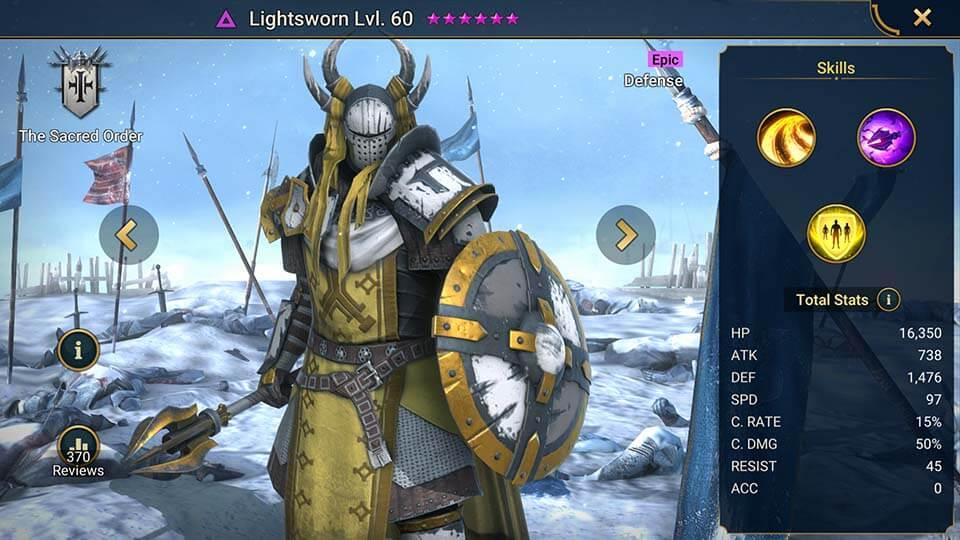 Raid Shadow Legends Lightsworn