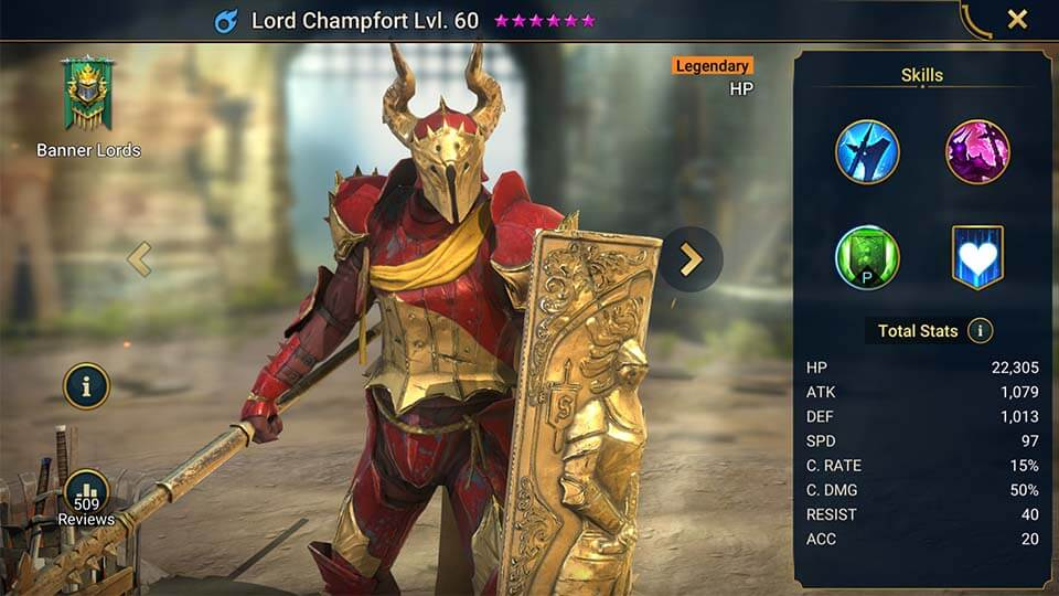 Raid Shadow Legends Lord Champfort