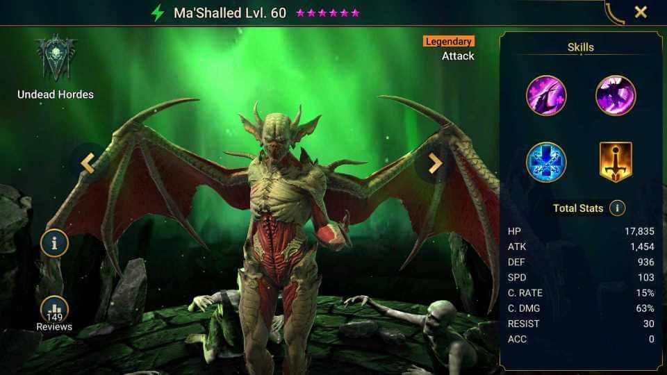 Raid Shadow Legends Ma'Shalled