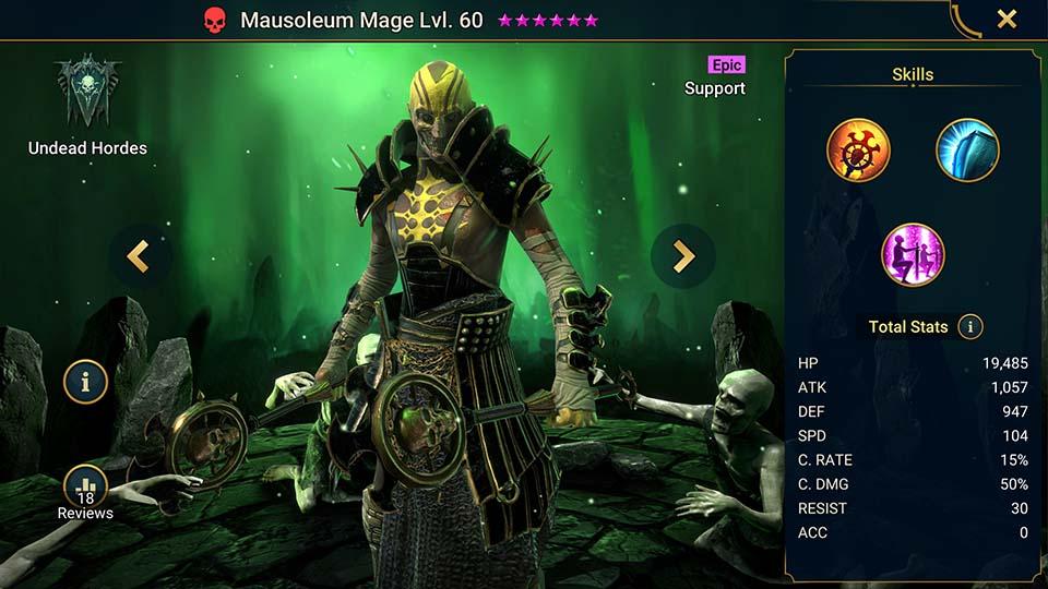 Raid Shadow Legends Mausoleum Mage