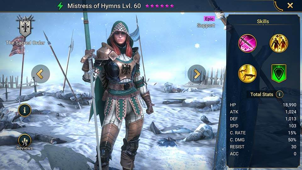 Raid Shadow Legends Mistress of Hymns