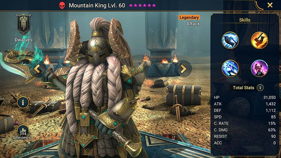 Raid Shadow Legends Mountain King
