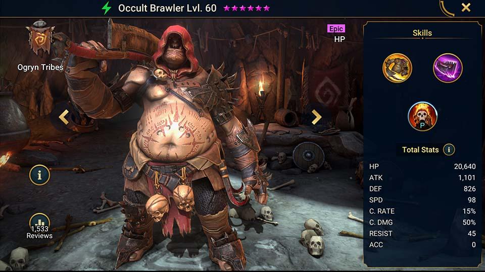 Raid Shadow Legends Occult Brawler