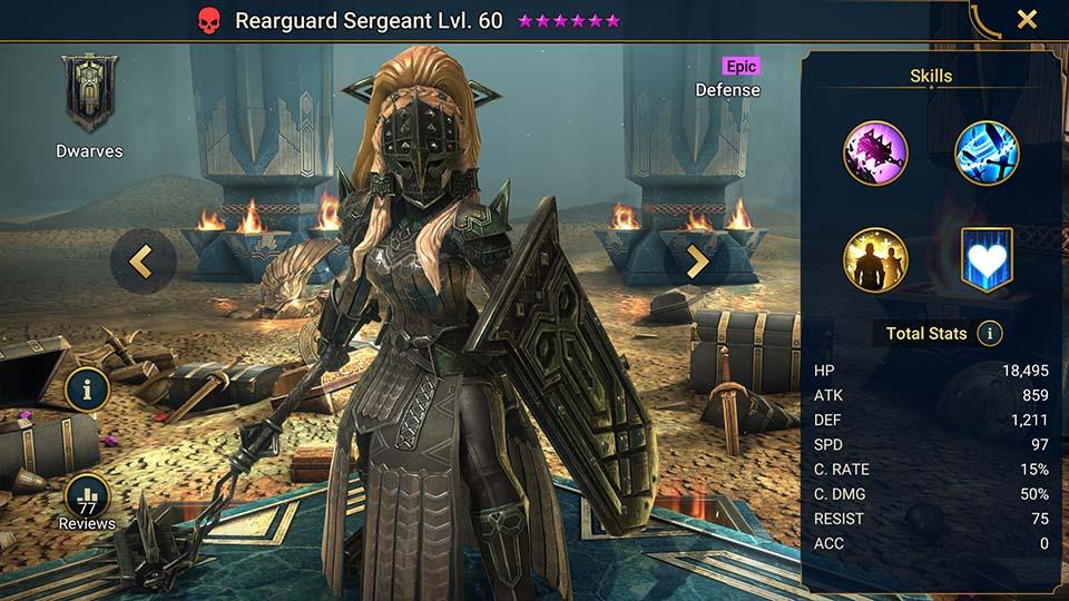Raid Shadow Legends Rearguard Sergeant