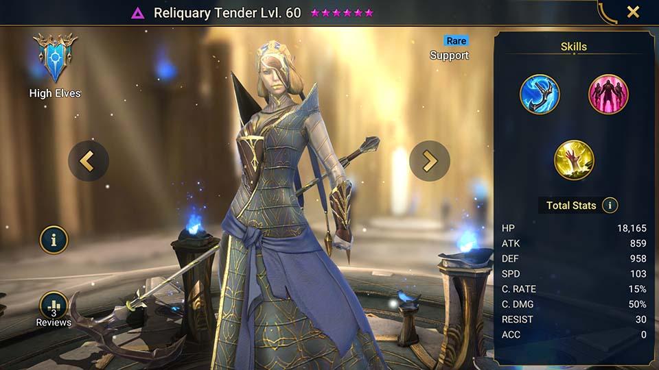 Raid Shadow Legends Reliquary Tender