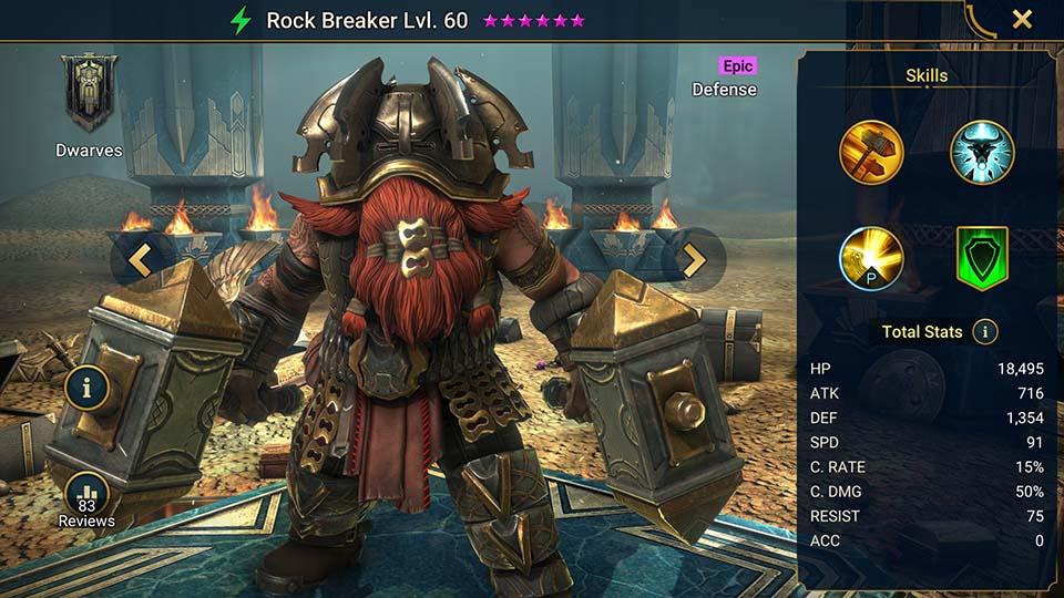 Raid Shadow Legends Rock Breaker