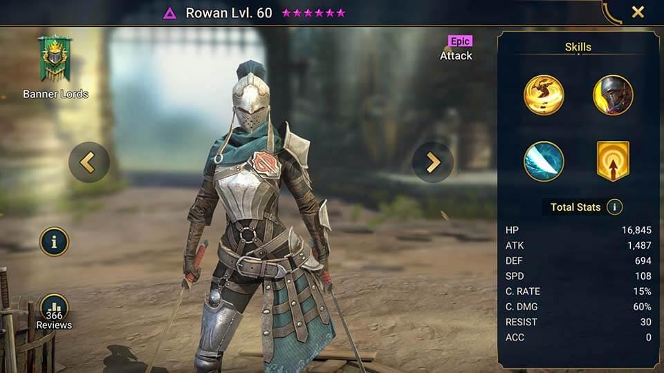Raid Shadow Legends Rowan