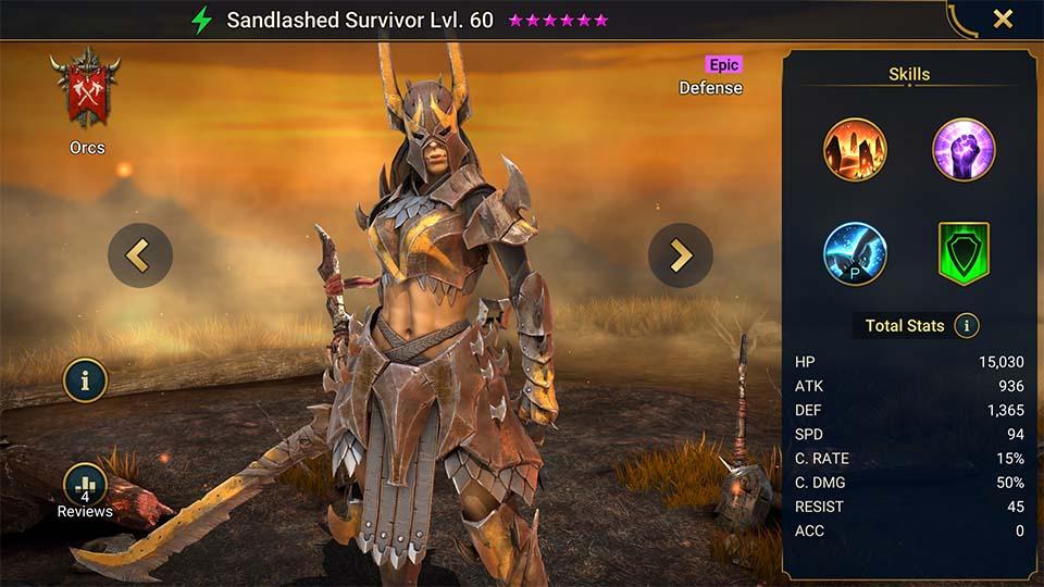 Raid Shadow Legends Sandlashed Survivor