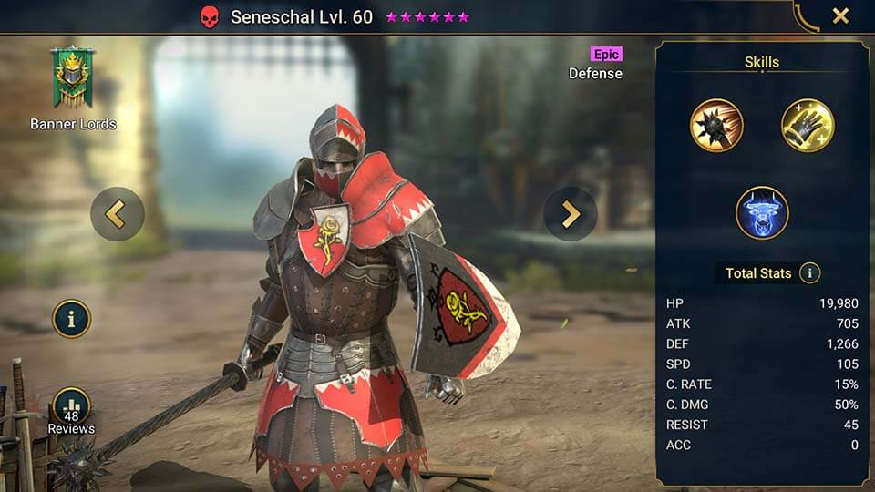 Raid Shadow Legends Seneschal