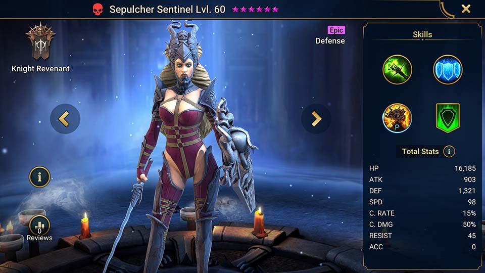 Raid Shadow Legends Sepulcher Sentinel