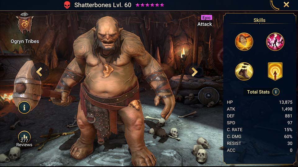 Raid Shadow Legends Shatterbones