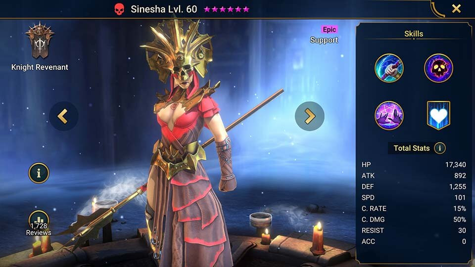 Raid Shadow Legends Sinesha