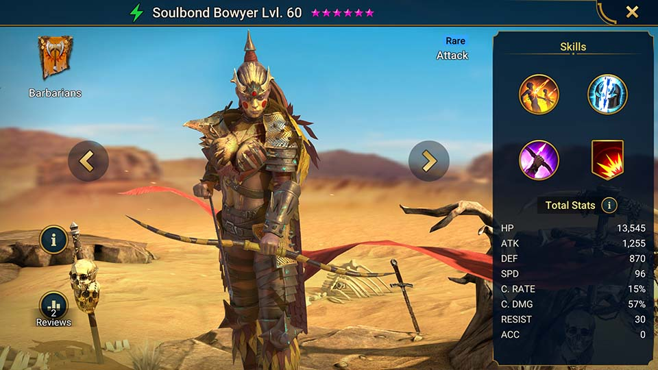 Raid Shadow Legends Soulbond Bowyer