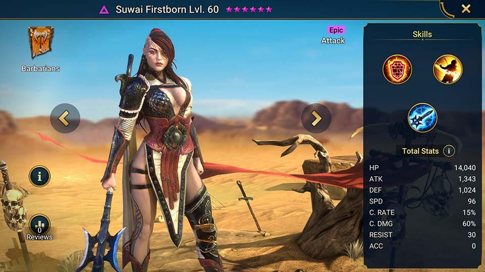 Raid Shadow Legends Suwai Firstborn
