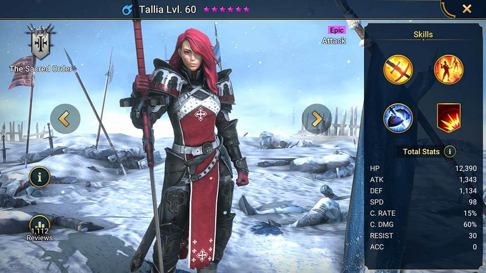 Raid Shadow Legends Tallia