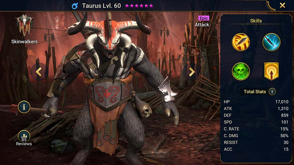 Raid Shadow Legends Taurus