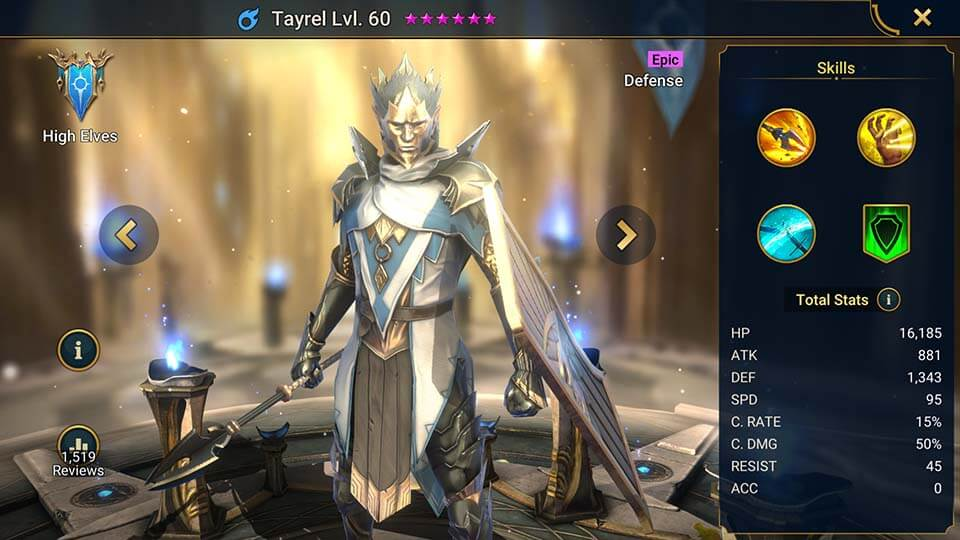 Raid Shadow Legends Tayrel