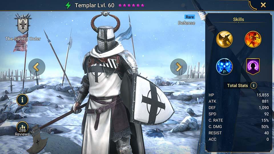Raid Shadow Legends Templar