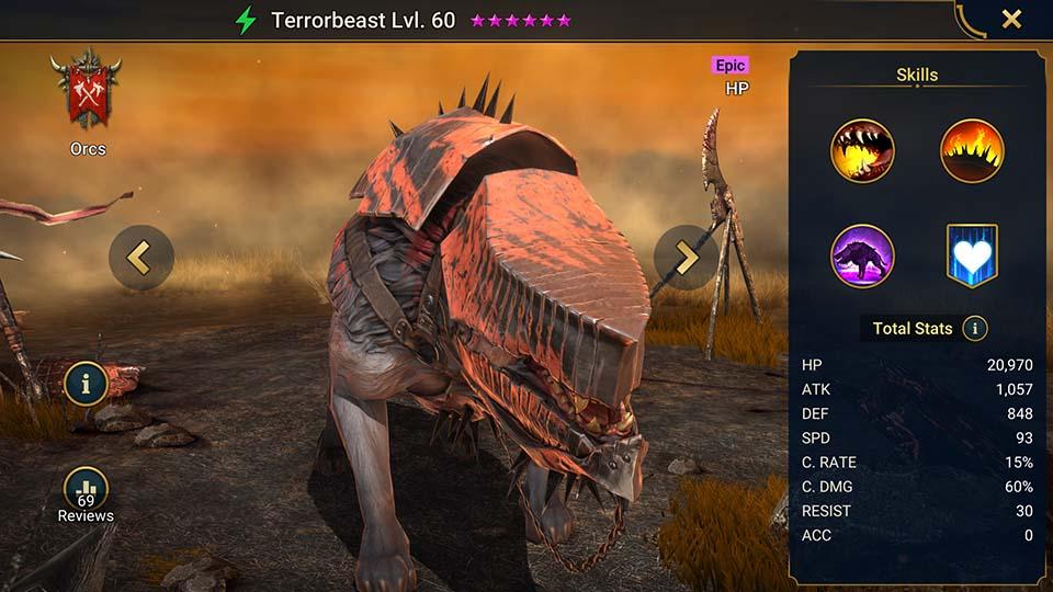 Raid Shadow Legends Terrorbeast