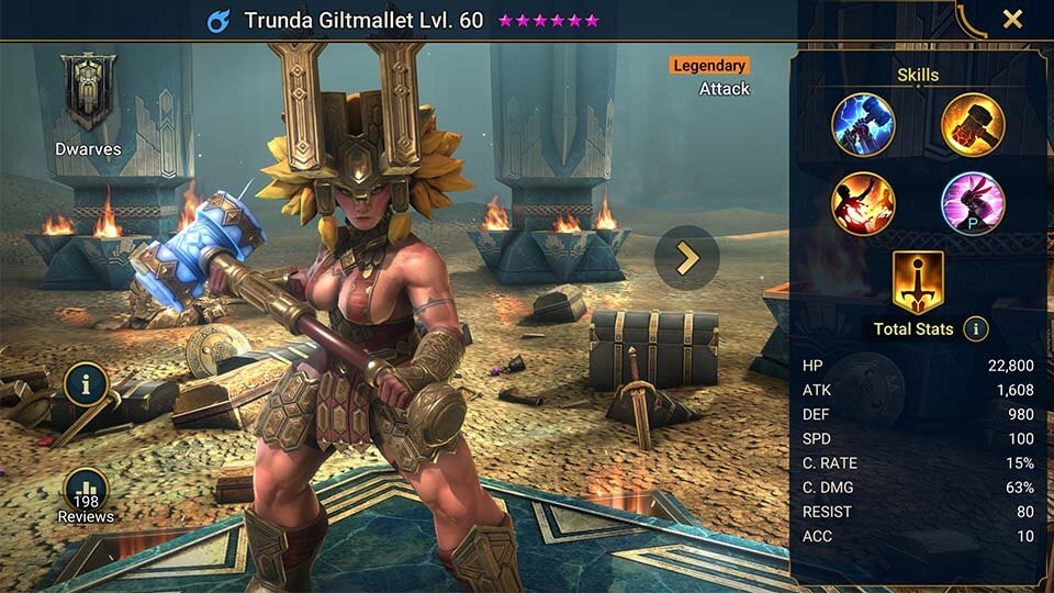 Raid Shadow Legends Trunda Giltmallet