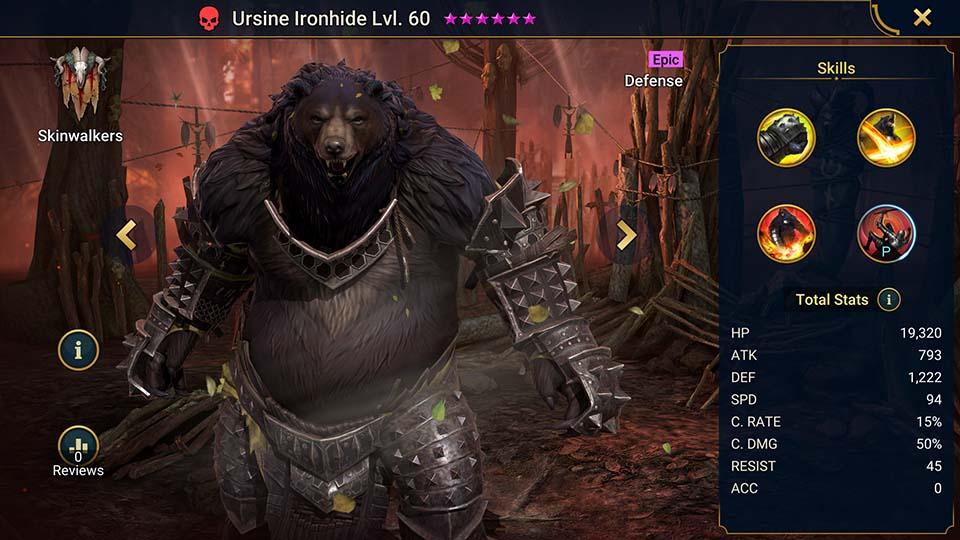 Raid Shadow Legends Ursine Ironhide