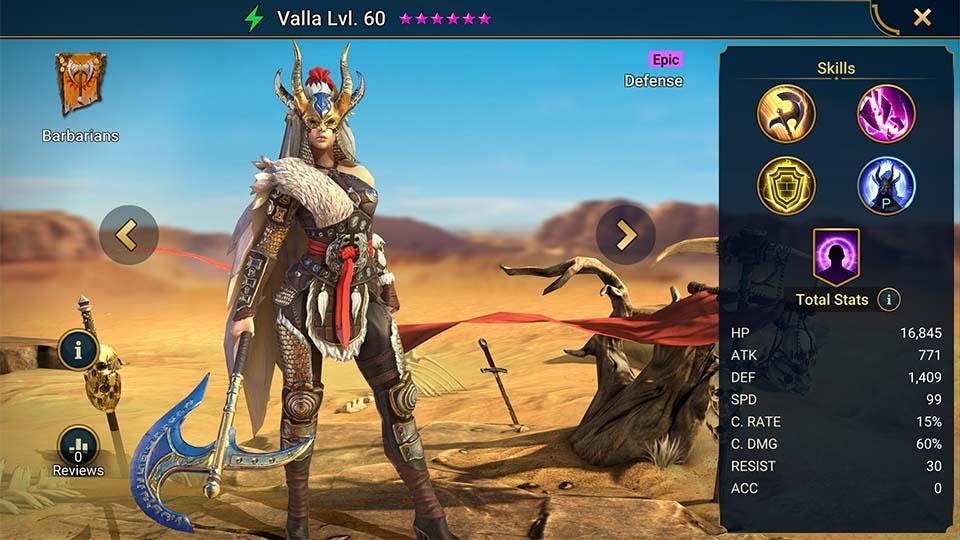Raid Shadow Legends Valla