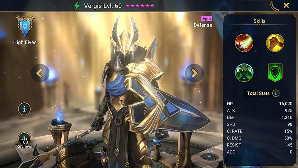 Raid Shadow Legends Vergis