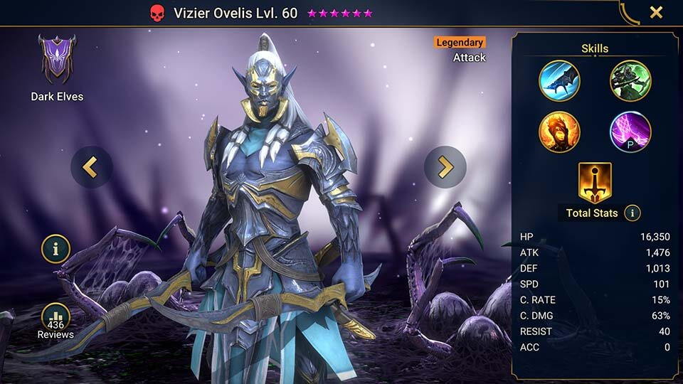 Raid Shadow Legends Vizier Ovelis