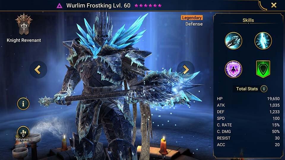 Raid Shadow Legends Wurlim Frostking