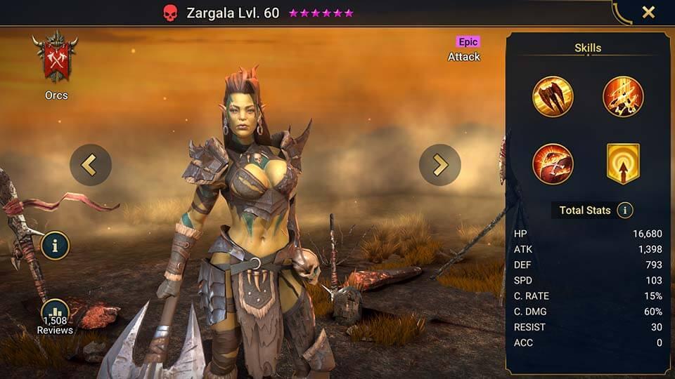 Raid Shadow Legends Zargala