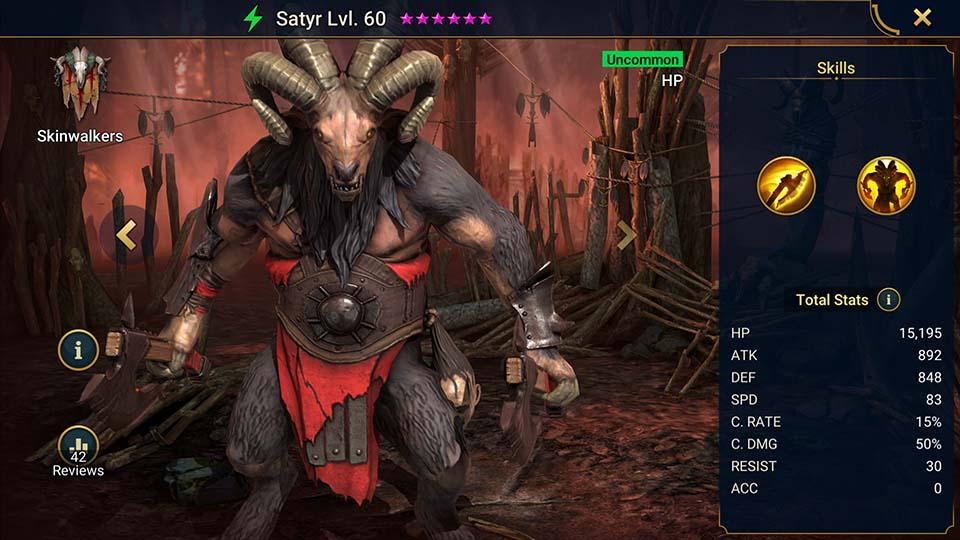 Satyr Raid Shadow Legends