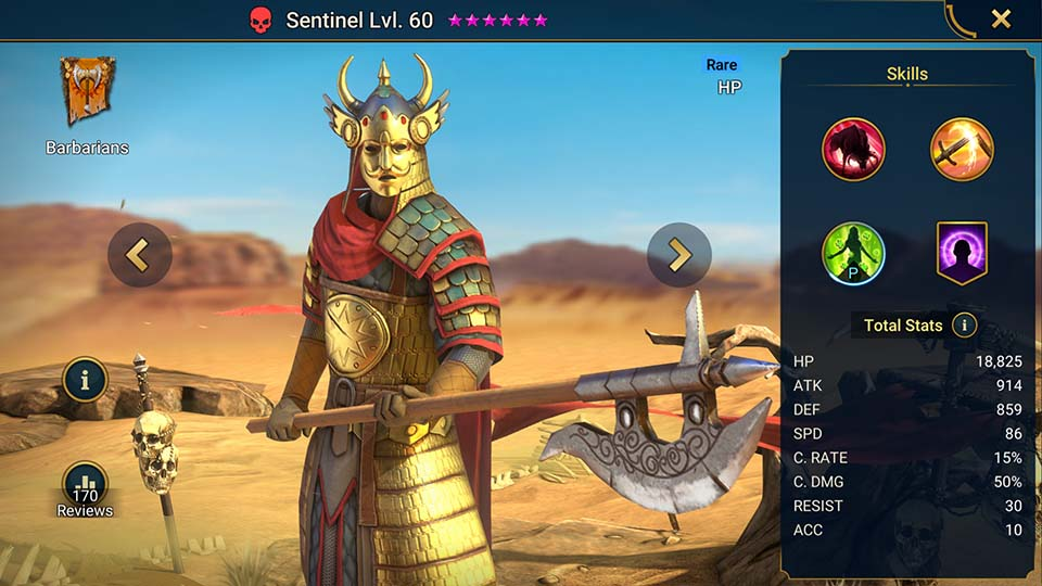 Sentinel Raid Shadow Legends