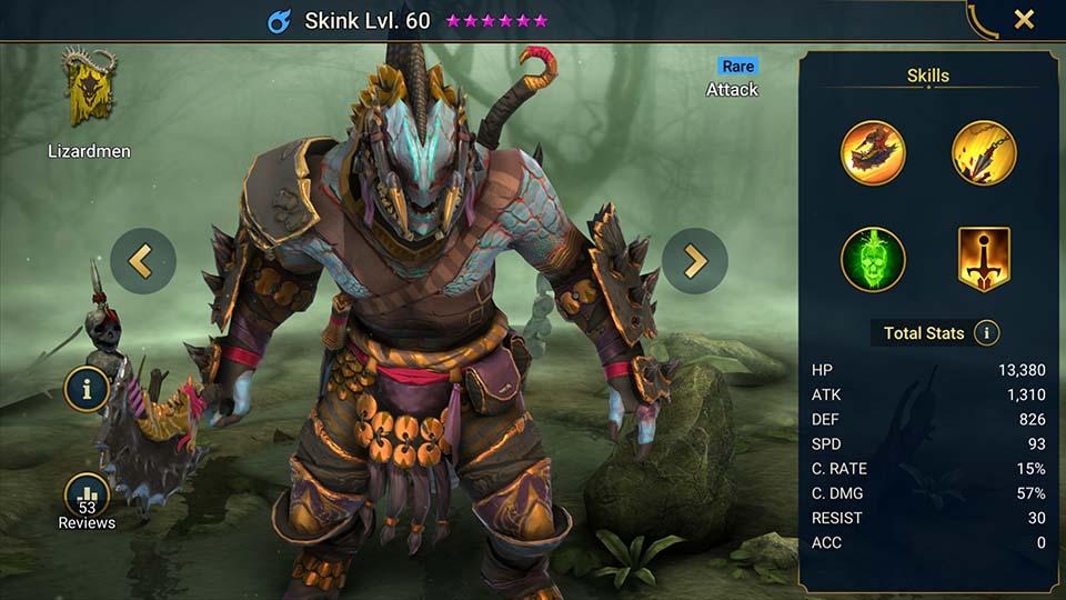 Skink Raid Shadow Legends