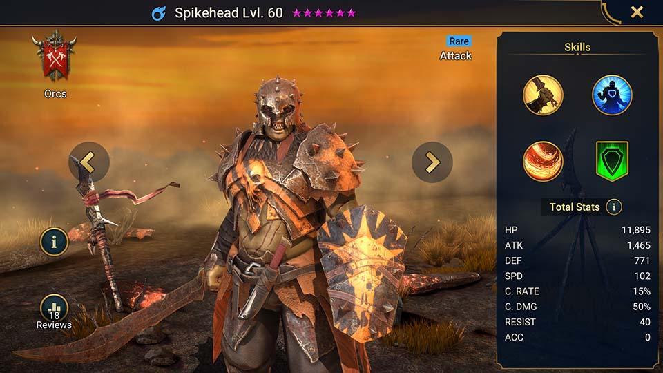 Spikehead Raid Shadow Legends