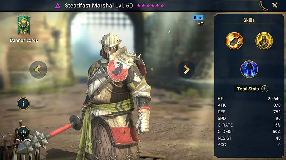 Steadfast Marshal Raid Shadow Legends