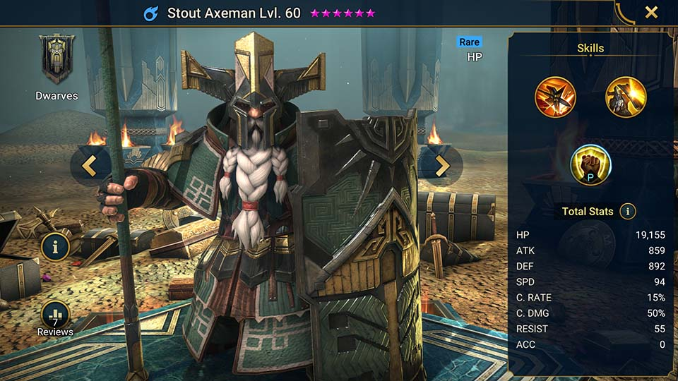 Stout Axeman Raid Shadow Legends