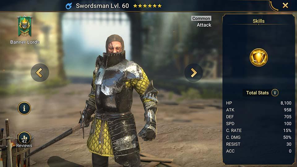 Swordsman Raid Shadow Legends