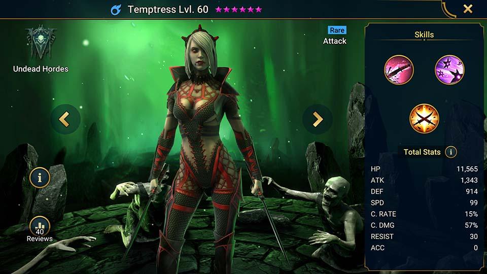 Temptress Raid Shadow Legends